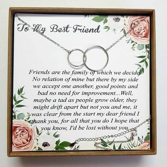 Best friend TMBF01 Site 542x542 - Best Friend Necklace: BFF Necklace, Best Friend Gift Jewelry - TMBF01