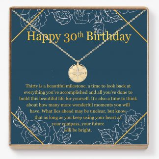 30TH 01 Site 324x324 - 30th Birthday Compass Necklace - Perfect gift for your best friend, sister, niece, cousin, and more on her 30th birthday, Compass - 30TH-01