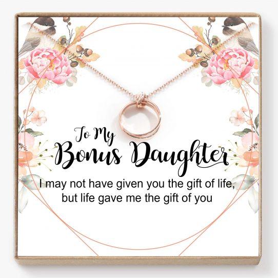 BNDT01 Site 542x542 - Bonus Daughter Gift, Step Daughter Gift, Stepdaughter Necklace, Daughter Jewelry, Step Daughter Birthday- BNDT01