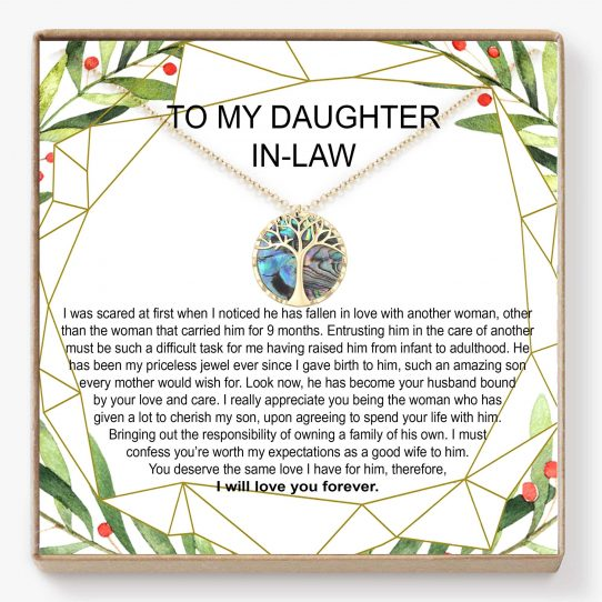 DL06 Mockup Site 542x542 - Daughter In-Law Gift 14k gold Necklace - DL06-1