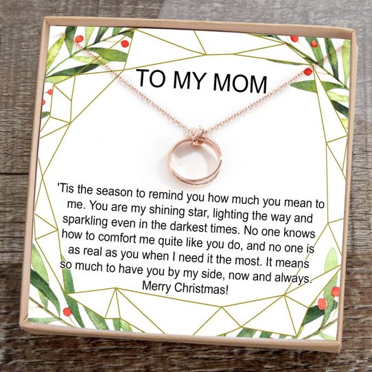 XS TMM01 Site 542x542 - Christmas Gift for Mom: Present, Necklace, Jewelry, Xmas Gift, Holiday Gift, Gift Idea, Mother, Mom Gift -  XS-TMM01