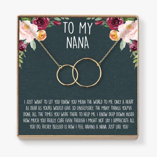 il fullxfull.1561866296 950s 542x542 - Nana Necklace: Nana Gift, Nana Necklace, Nana Jewelry, Mother's Day Gift for Grandma, Mother's Day Jewelry, Grandma, 2 Interlocking Circles - NA01