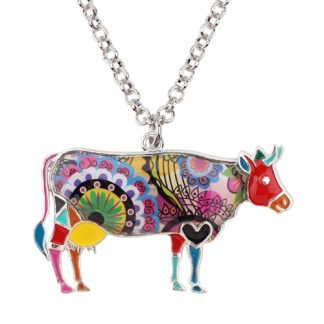 1 324x324 - Cow Necklace - Farm Animal Necklace - Cow Lover Gift - Farmer Necklace - Animal Necklace - Cowgirl Necklace