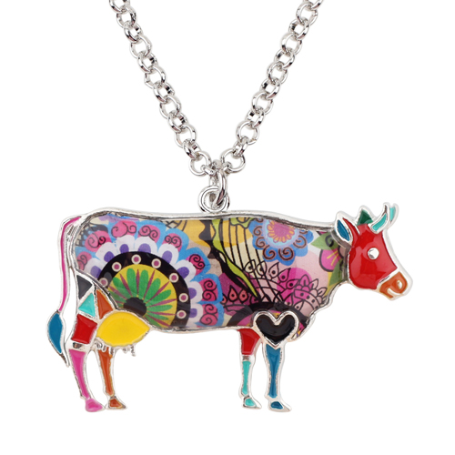 1 - Cow Necklace - Farm Animal Necklace - Cow Lover Gift - Farmer Necklace - Animal Necklace - Cowgirl Necklace