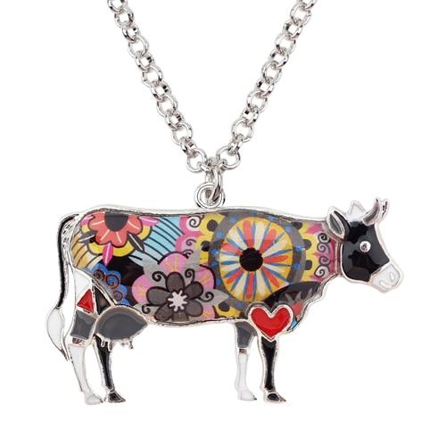 HTB11WjPqVmWBuNjSspdq6zugXXaQ 1 - Cow Necklace - Farm Animal Necklace - Cow Lover Gift - Farmer Necklace - Animal Necklace - Cowgirl Necklace