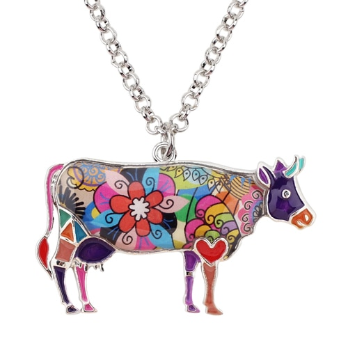 HTB1BPAFfvImBKNjSZFlq6A43FXaC 1 - Cow Necklace - Farm Animal Necklace - Cow Lover Gift - Farmer Necklace - Animal Necklace - Cowgirl Necklace