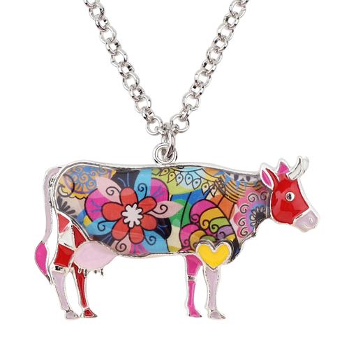 HTB1HvsfqWSWBuNjSsrbq6y0mVXaZ 1 - Cow Necklace - Farm Animal Necklace - Cow Lover Gift - Farmer Necklace - Animal Necklace - Cowgirl Necklace