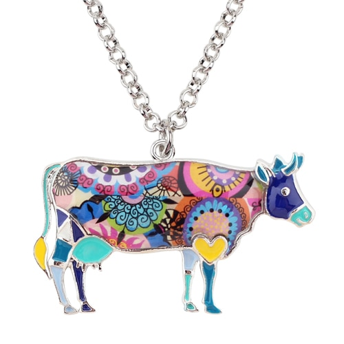 HTB1acTzftcnBKNjSZR0q6AFqFXam 1 - Cow Necklace - Farm Animal Necklace - Cow Lover Gift - Farmer Necklace - Animal Necklace - Cowgirl Necklace