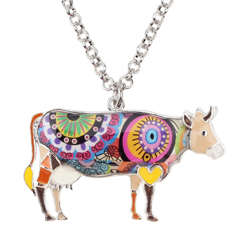 HTB1yDO8iNuTBuNkHFNRq6A9qpXaK 1 - Cow Necklace - Farm Animal Necklace - Cow Lover Gift - Farmer Necklace - Animal Necklace - Cowgirl Necklace